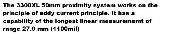 bn 3300XL 50mm proximity transducer descr k