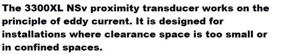 bn 3300XL NSv proximity transducer descr k